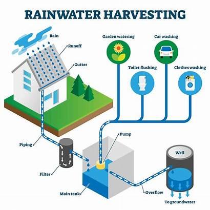 Harvesting Rainwater System Diagram Water Het Reservoir
