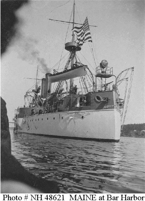 When Did The Uss Maine Sink by Usn Ships Uss Maine 1895 1898