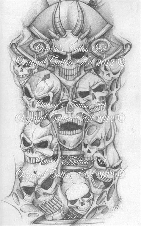 Skull Tattoo Flash   The Life
