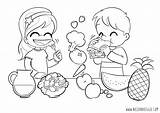 Coloring Healthy Pages Nutrition Eating Children Living Colouring Foods Veggies Meals Choices Bad Chicken Child Clipart Sketch Eat Sheets Printable sketch template