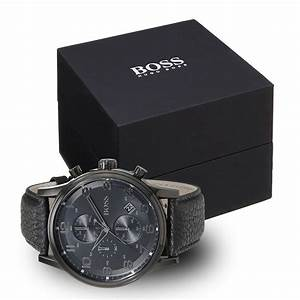 Herrenuhren Auf Rechnung Kaufen : hugo boss 1512567 herrenuhr in schwarz mit schwarzem kroko lederarmband chronographen f r ~ Themetempest.com Abrechnung