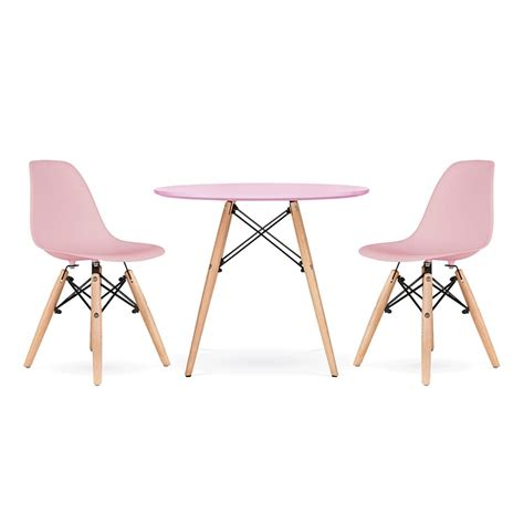 table chaise enfants cult living dsw pastel pink dining set cult