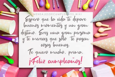 Frases De Cumpleaños Para Una Prima +100 Mensajes 【2019】
