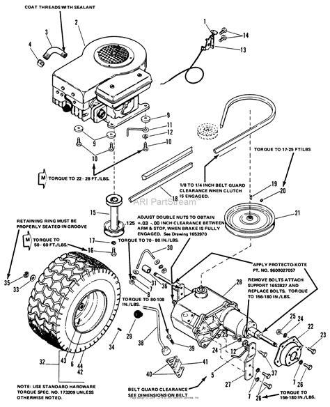 simplicity   hp gear  mower   rotary mower parts diagram  engine