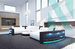 nativo mobilier moderne canape atlantis xxl ac eclairage led With canapé design avec led