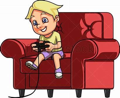 Playing Games Clipart Cartoon Boy Gamer Child