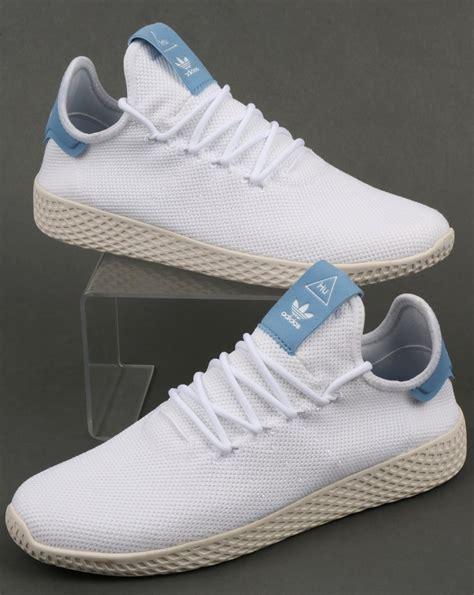 Adidas Pw For adidas pw tennis hu trainers white sky blue pharrell
