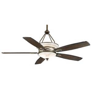 shop casablanca atria 68 in aged bronze downrod mount indoor outdoor ceiling fan with light kit