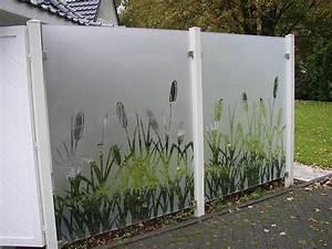 Zaun Aus Glas : klarglas sandgestrahlt glaszaun sichtschutz zaun torsysteme ~ Yasmunasinghe.com Haus und Dekorationen