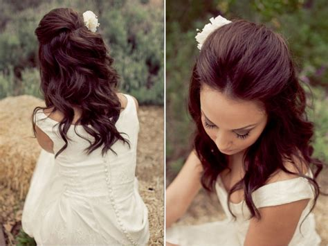 Half Up Half Down Wedding Hairstyle Ideas For Short Hair
