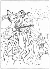 Coloring Pages Princess Barbie Rock Star Birthday Printable Popstar Spy Rockstar Printables Template Kolorowanki Party Squad Fairy Close sketch template