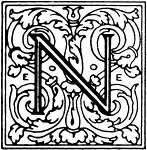 Decorative Letter N   ClipArt ETC