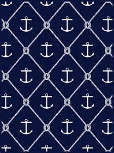 Nautical Anchor Print Fabric