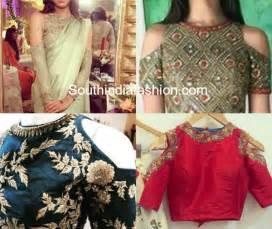 saree blouse design trend cold shoulder saree blouse designs south india fashion