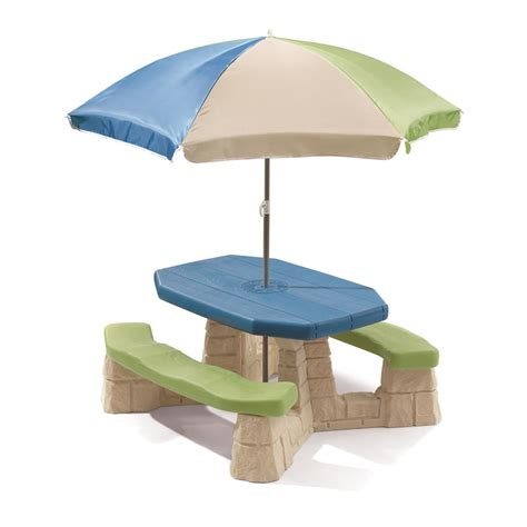 Step2 Naturally Playful Picnic Table With Umbrella Earth