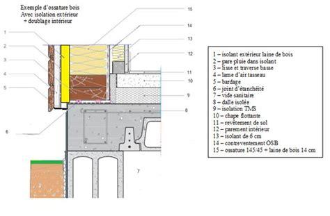 chalet plans descriptif matériaux de construction murs en ossature bois