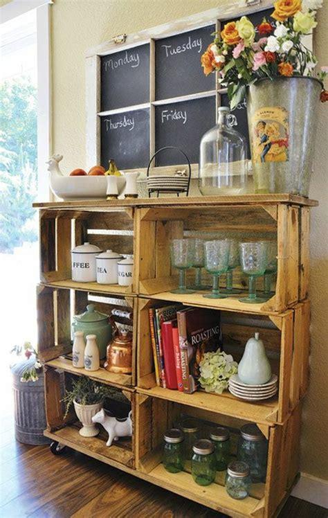 id馥s rangement cuisine awesome meuble de rangement en caisses en bois roulettes vaisselier pots en verre with comment ranger la vaisselle dans la cuisine