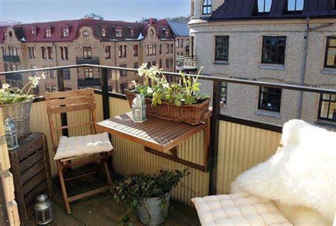wood outdoor furniture  cozy balcony