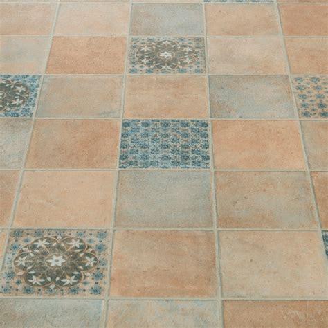 atlas 562 salsa blue moroccan patterned vinyl flooring