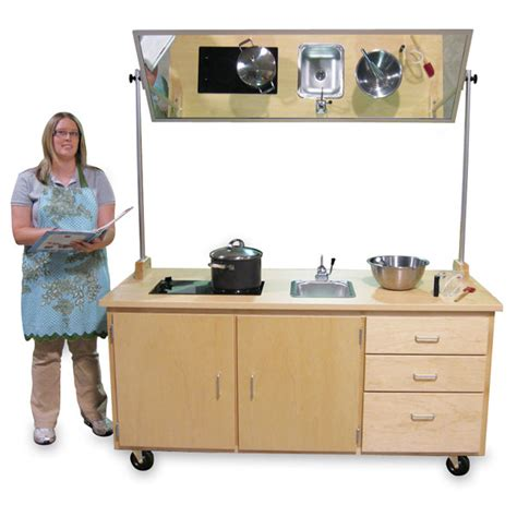 kitchen sink demo hann manufacturing mobile demonstration table with mirror 2657