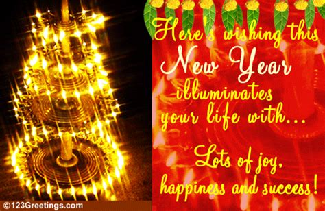 illuminate  life  tamil  year ecards greeting cards