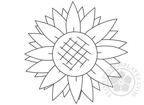 printable sunflower shape template flowers templates