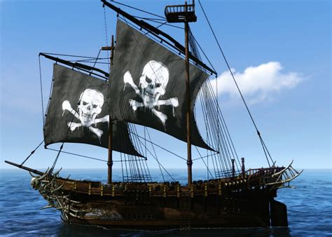 drop cloth archeage guides the black pearl pirate ship