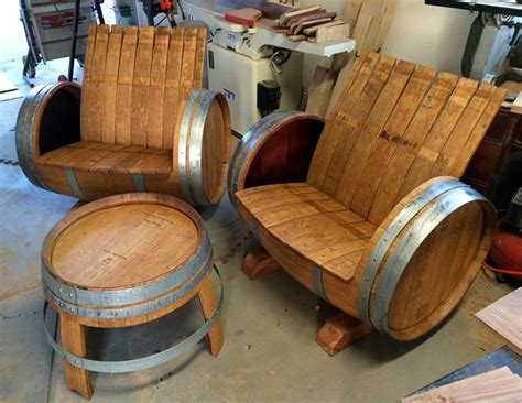 31731 oak barrel furniture wine barrel chairs and table the green