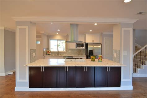 center islands in kitchens kitchen with crown molding high ceiling in dublin ca