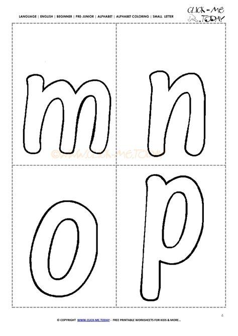 alphabet small letters  kindergarten mnop