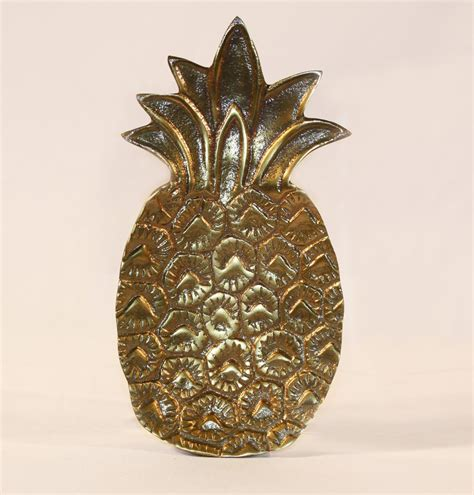 Antique Brass Pineapple Trinket Tray  Lucy's Gift