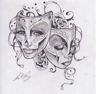 image result  greek theatre masks tattoo tattoos