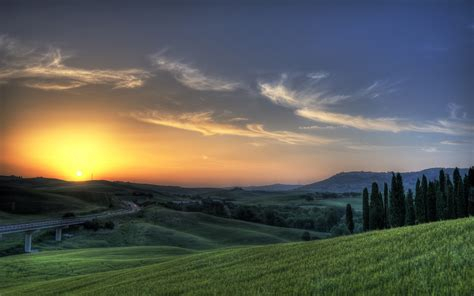 Wallpaper Of Nature by Tuscany Sunset Road Nature Wallpapers Tuscany Sunset