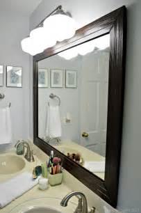 mirror for bathroom ideas framed bathroom mirror diy house decor ideas