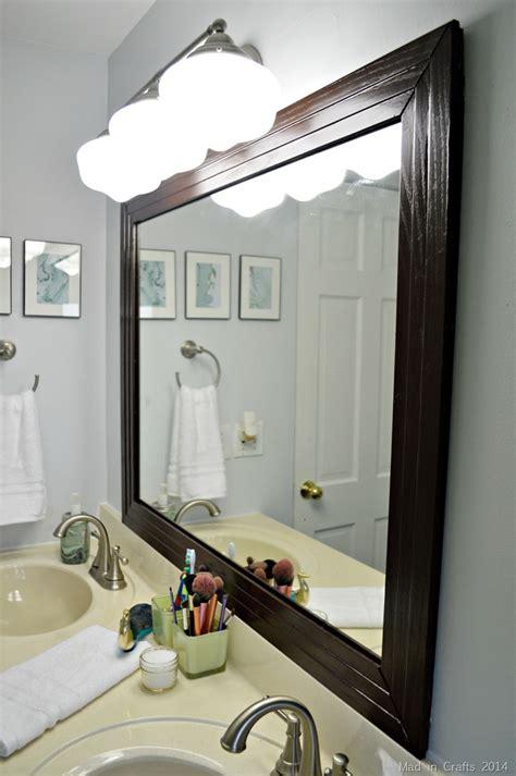 framed bathroom mirror mad  crafts