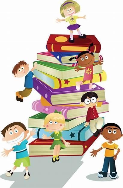 Children Read Education Reading Books Library Illustration