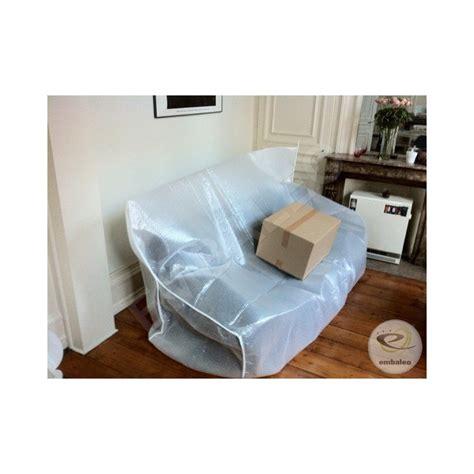 canapé plastique housse canapé en bulle et mousse