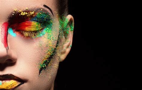 closed eyes face women model lipstick makeup