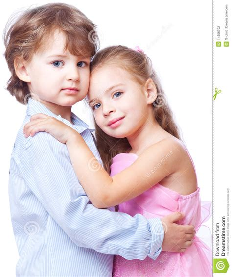 Little Boy And Girl In Love Stock Photography Image
