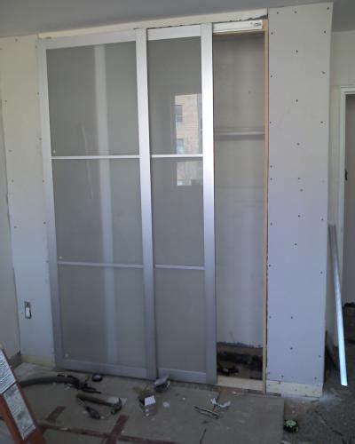 attaching pax doors to an existing wall sliding doors