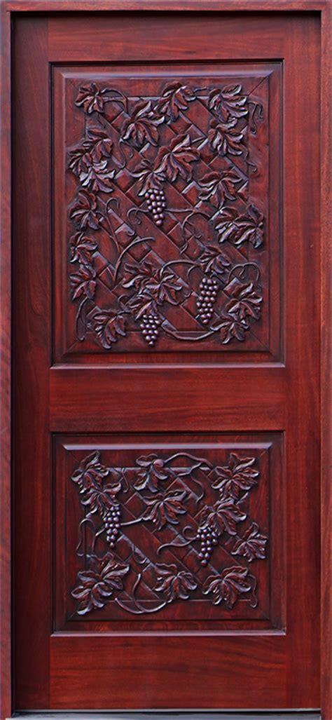 wine cellar doors  hand carved mahogany