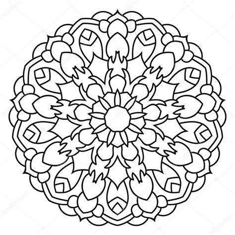 mandala da colorare immagini grandi mandala etnico orientale reticolo simmetrico rotondo