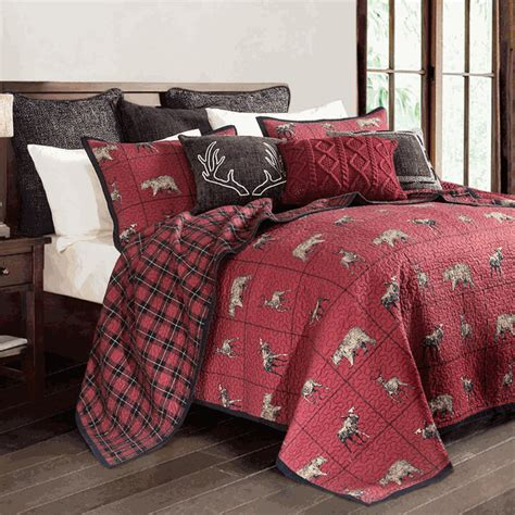 woodland plaid quilt set fullqueen