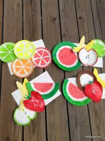Summer Crafts Paper Plate Fruit