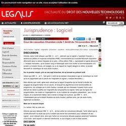 jurisprudence cour de cassation chambre sociale jurisprudence protection des logiciels pearltrees