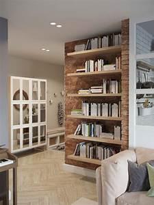 Mur Brique Salon : mur en brique rouge dans un salon ~ Zukunftsfamilie.com Idées de Décoration