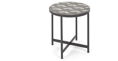 white marble table l indra side table grey and white marble made com