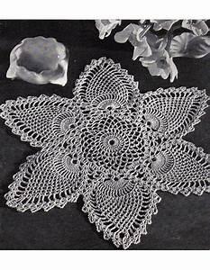Fabulous Crochet Pineapple Doily Pattern Retyped Large Print