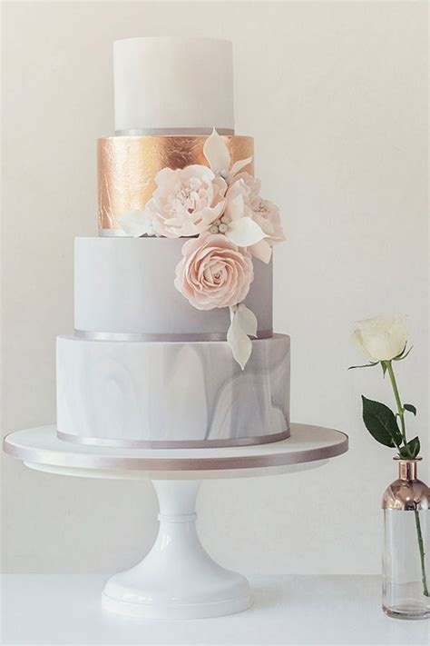 This Elegant Mint Peach And Gold Cake In 2019 Wedding