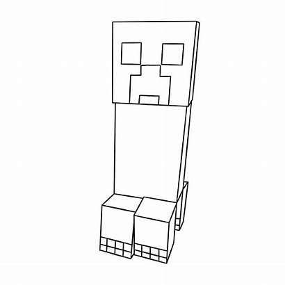 Minecraft Coloring Creeper Printable Cool Dibujos Colorear